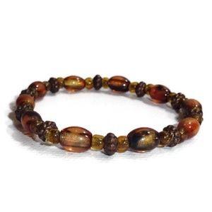 Handmade Beaded Elastic Stretch Bracelet #04